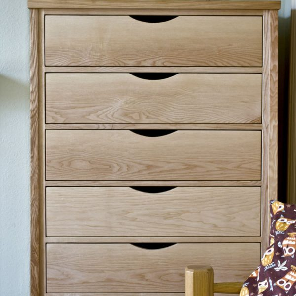 Handmade bespoke Chest of Drawers made from Ash in Lancashire by HOUT Design
