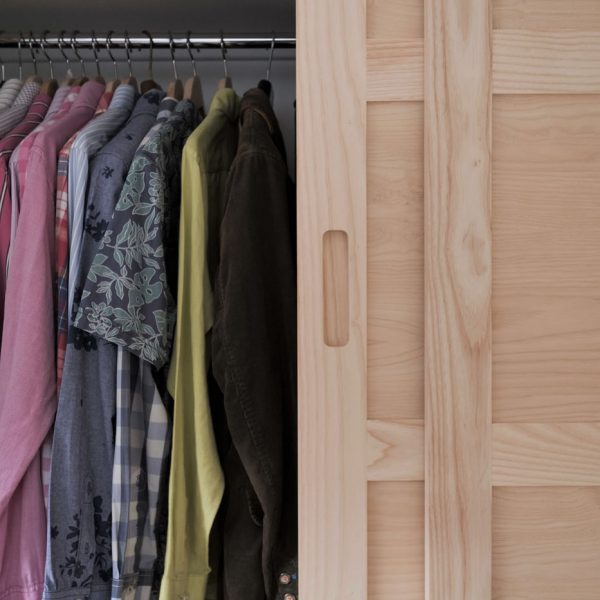 A fitted wardrobe made from Ash by HOUT Design in Cumbria