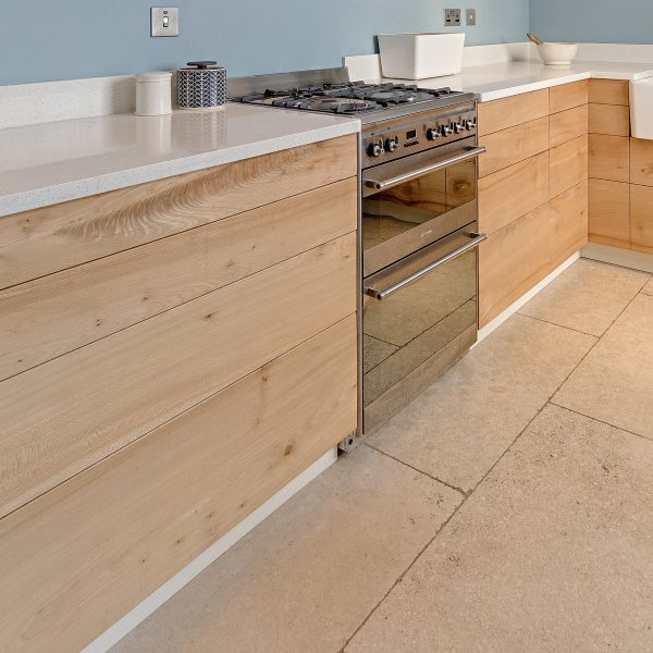A bespoke fitted Kitchen handcrafted from Elm and made in Lancashire by HOUT Design