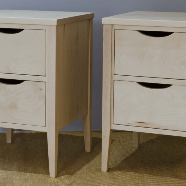 Bedside tables made from Sycamore by HOUT Design in Cumbria