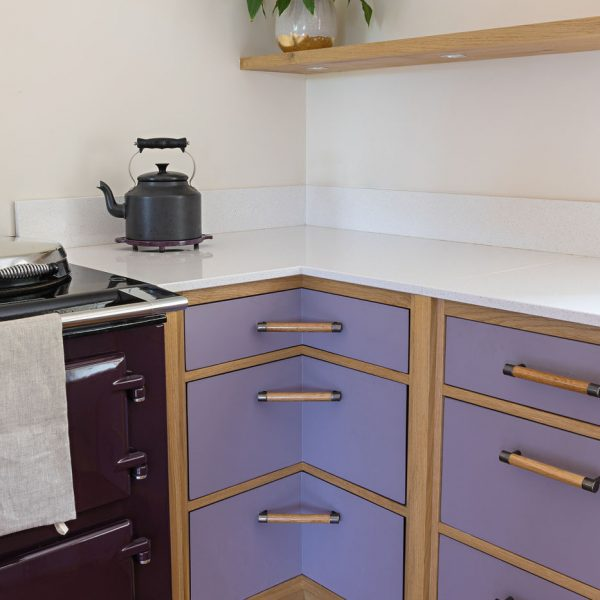 Handmade Shaker style Kitchen Units made from Oak by HOUT Design in Cumbria