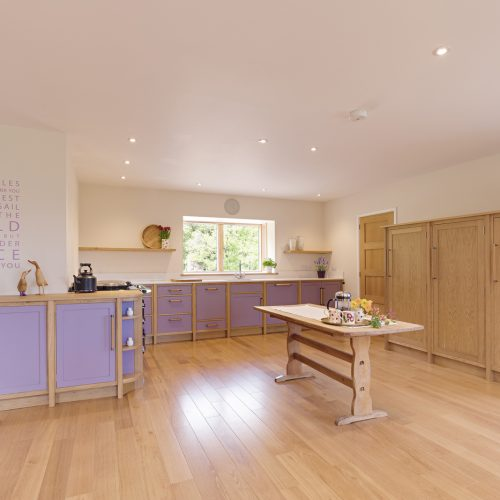 A handmade Shaker style Kitchen made from Oak by HOUT Design in Cumbria