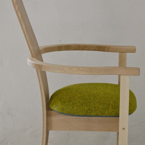 Elm dining chair made in Cumbria by HOUT Design
